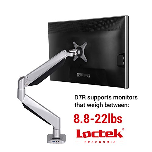 Loctek Monitor Mount Heavy Duty Single LCD Arm Stand Desk Mount Supports Heavy Monitors, Fits for 17