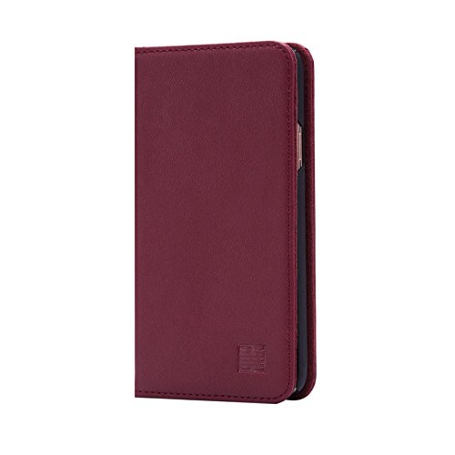 32nd Classic Series - Real Leather Book Wallet Case Cover for Samsung Galaxy S5, Real Leather Design with Card Slot, Magnetic Closure and Built in Stand - Burgundy
