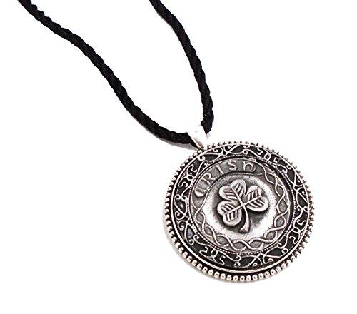 Mullingar Irish Pewter: Irish Shamrock Pendant Necklace
