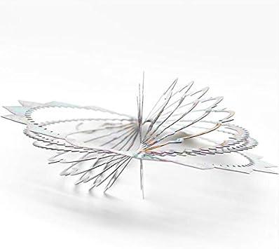 3D-Laserschnitt FENELY Windspiel aus Edelstahl handbemalt mit funkelnden Pulvern Mehrfarbig Delfin f/ür drinnen und drau/ßen 30,5 cm Gartendekoration
