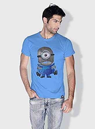 Creo Minion Skeleton Minions Round Neck T-Shirt For Men - Blue, L