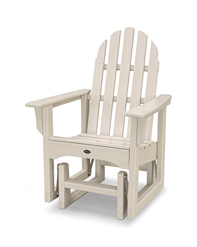 Chair Polywood Glider Adirondack (Trex Outdoor Furniture Cape Cod Adirondack Glider Chair in Sand Castle)