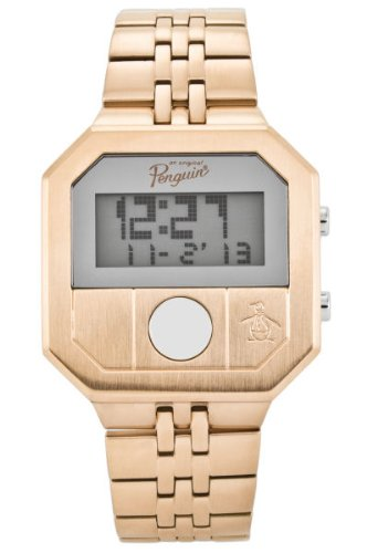 Original Penguin Men's OP3034RG Cary All Rose Gold Stainless Steel Digital Watch