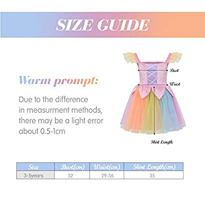 DJDLPARTY Pretty Rainbow Fairy Dress (3-5years): Clothing