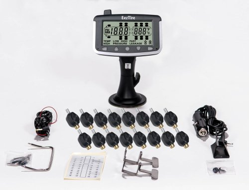 EEZTire Tire Pressure Monitoring System - 16 Flow-Through Sensors (TPMS) - FREE U.S. SHIPPING AT CHECK OUT