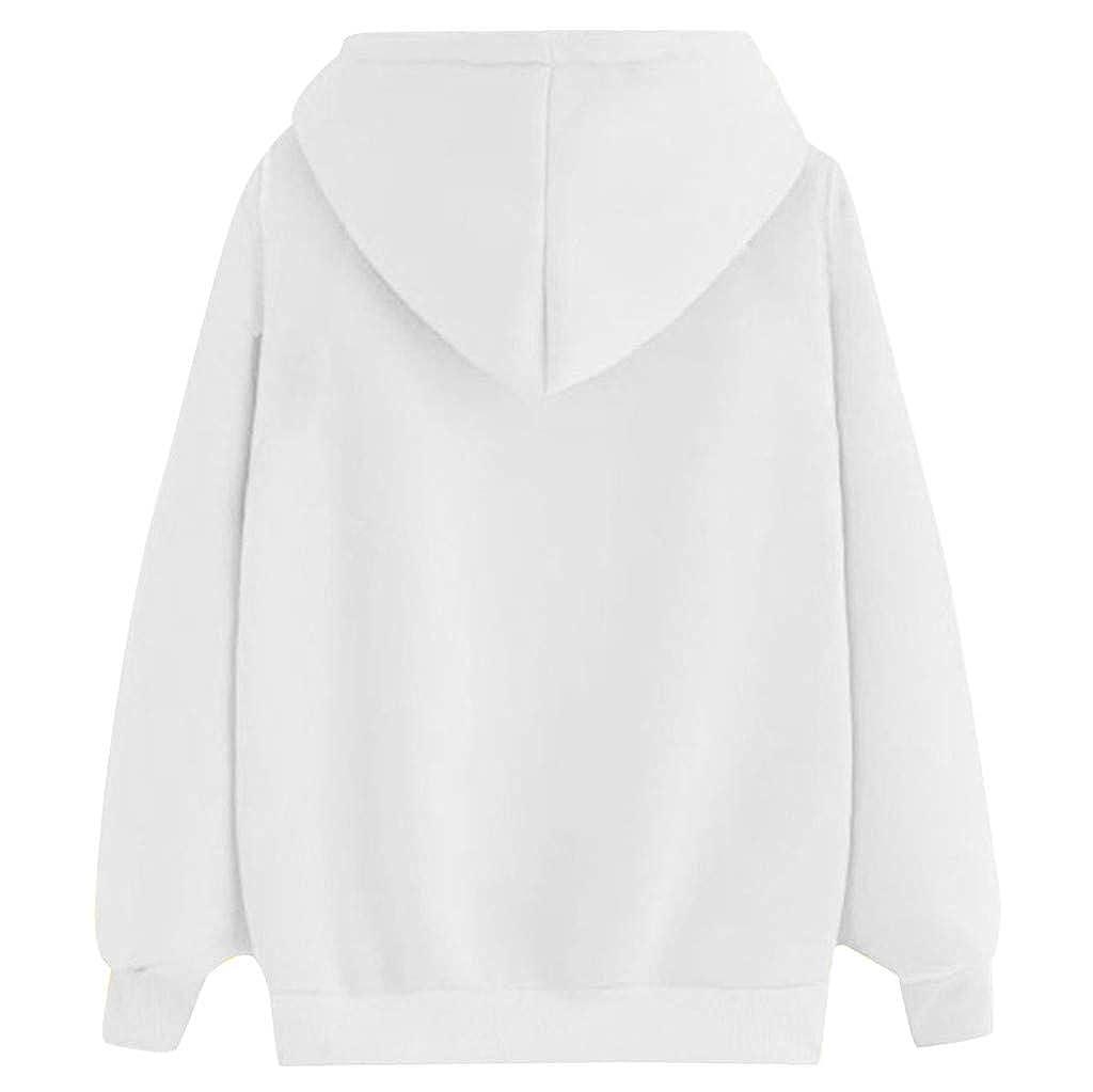 Yajiemen Women Print Long Sleeve Casual Hooded Casual Pullover Top Blouse