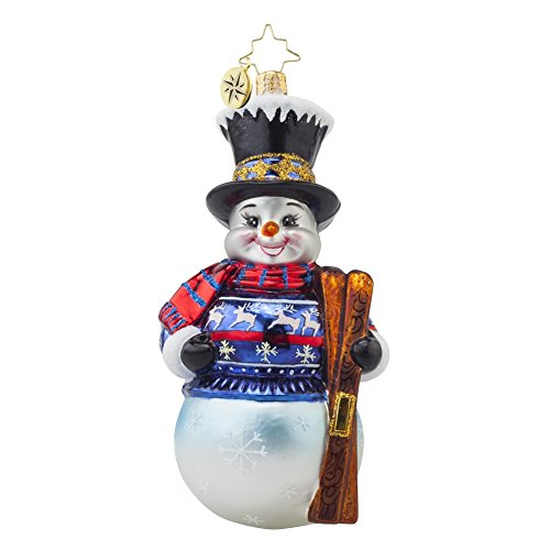 Christopher Radko Alpine Delight Snowman Glass Christmas Ornament - 5