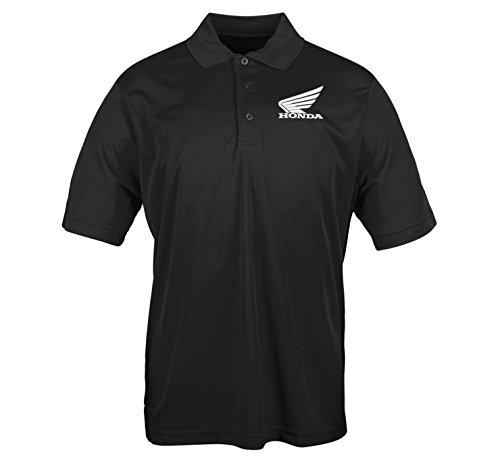 Honda Big Wing Polo Shirt, Gender: Mens/Unisex, Primary Color: Black, Size: Md, Distinct Name: Black