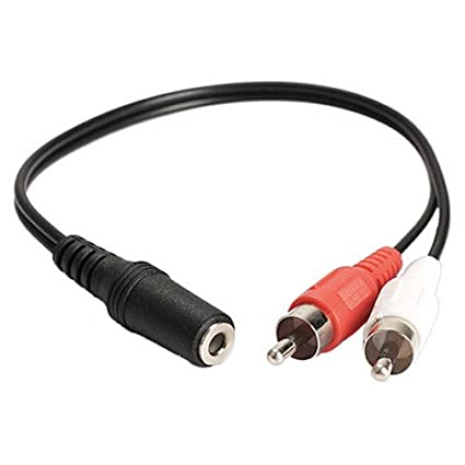 96b09c635b3 Buy Eatech 3.5 mm 1/8'' Stereo Female to Dual (2) Male RCA Jack Extension Splitter  Adapter Aux Audio Y Converter Cable (Black) Online at Low Prices in India  ...