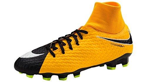 Nike Men's Hypervenom Phelon 3 Dynamic Fit Firm Ground Soccer Shoes (7.5 D(M) US, Black/White)