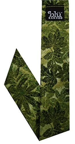 Blubandoo Water Activated Evaporative Neckbandoo Cool Tie. Fern Grotto Print. Over 150 USA Made Cooling Bandana Scarf Prints for Men And Women Heat Relief.