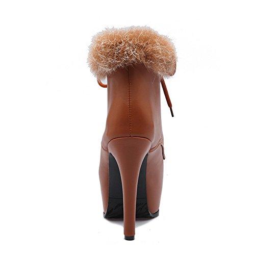 AdeeSu Spikes SXC02012 Brown Womens Resistant Stilettos Boots Tassels Slip Urethane AvHapwAqx