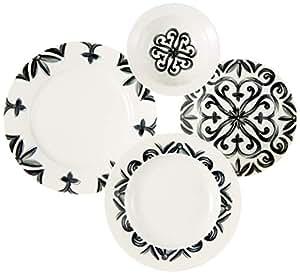Kütahya Porselen BNKL24Y2880042 Yemek Seti, Bone Porselen, 24 Parça