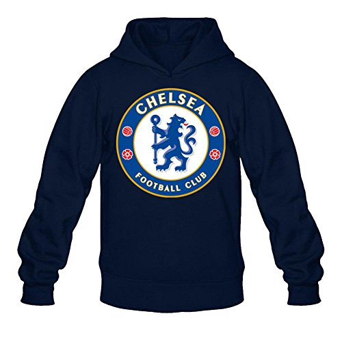 XIULUAN Men's Fc Chelsea Logo Hoodied Sweatshirt M ColorName Long Sleeve
