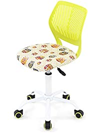 ikayaa adjustable fabric teen child desk chair swivel computer task chair green - Desk Chairs For Teens