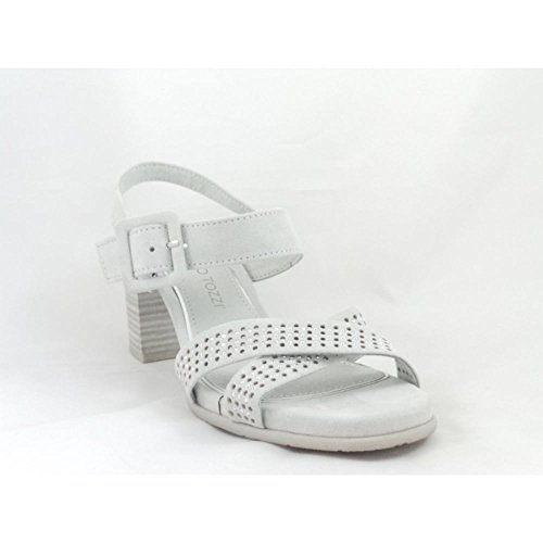 Marco Tozzi 28380 Light Grey Faux Suede Sandal 551KKMF