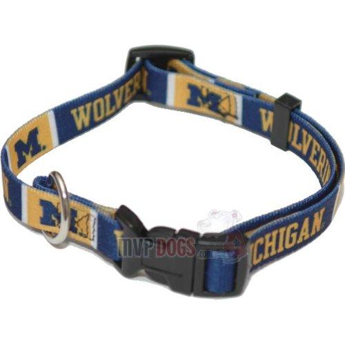 "Michigan Wolverines NCAA Dog Collar XL: 26-32"" length, 1"" width"