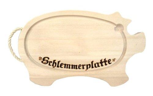 Schlemmerplatte aus Holz - Kordelschwein