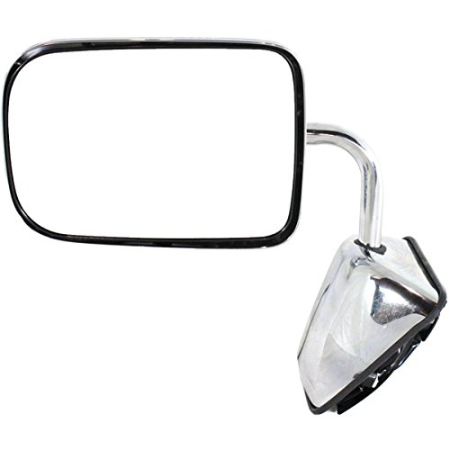 1988 1989 1990 1991 1992 1993 Dodge Ramcharger Full Size Pickup Truck Power Chrome (6×9 Glass) Manual Folding Rear View Mirror Left Driver Side (88 89 90 91 92 93)
