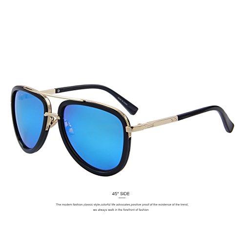 Double de lentes marrón C03 sol Los Bridge TIANLIANG04 metálicas clásico Blue hombres UV400 de en tonalidades C02 xw0nX4q