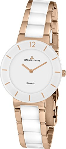 Jacques Lemans MESSEAKTION 2016 41-3D Wristwatch for women With Ceramic Elements