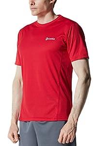 CLSL TM-MTS05-RD_Large Tesla Men's Upgraded HyperDri 2.0 Short Sleeved Athletic Fit T-Shirt MTS05