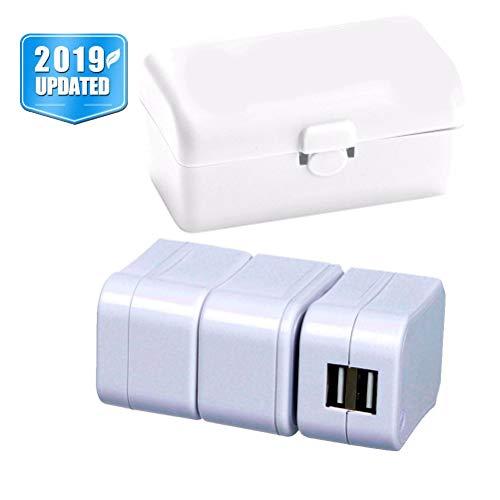 (Amabest US UK European Adapter International Universal Travel Adapter Plug Adapter Converter C/Y/X/T/G/F/L/B/V/U/M/E/Z/N Adapter for EU, Israel, Italy, UAE, New Zealand, Switzerland, France, India)