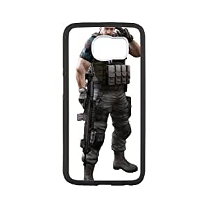 resident evil 6 Samsung Galaxy S6 Cell Phone Case Black xlb2-106865