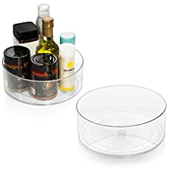Kitchen ClearSpace Plastic Lazy Susan Cabinet Organizer – Perfect Under Sink Organizer – Pantry Cabinet Organizer and… lazy susans