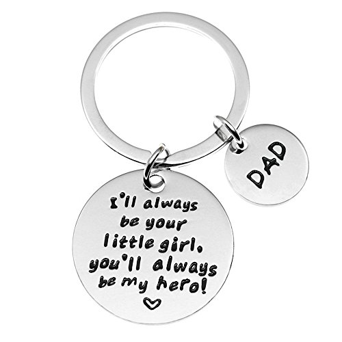 Ms.Clover Gift for Dad From Daughter, I'll always Be Your Little Girl Keychain, Father's Day Jewelry