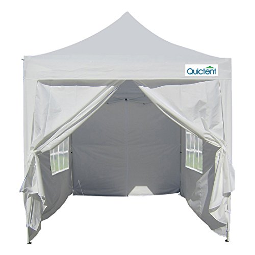 Quictent Silvox 6.6′ X 6.6′ Ez Set Pop up Gazebo Party Wedding Tent Canopy Marquee +4 Sidewalls +carry Bag 4 colors 100% Waterproof (WHITE)