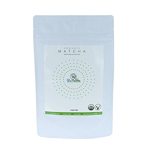 OLA Organic Culinary Matcha Green Tea Powder for Detox, Smoothie, Latte, Baking, Vegan. Rich in Anti-Oxidants,Increases Energy, Focus, Metabolism and Weight Loss. Gluten and Dairy Free 4.2 oz by Ola Matcha