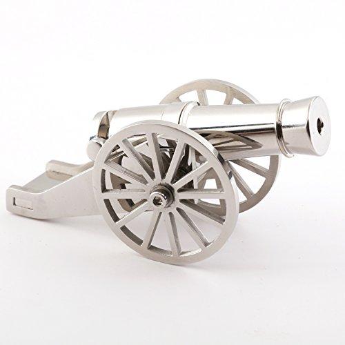 Review Miniature Napoleon Cannon Metal Naval Desktop Model Artillery Kit for Collection