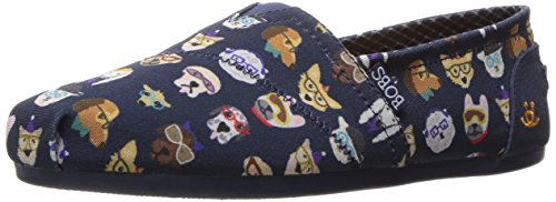 bobs-from-skechers-womens-plush-pup-smarts-flat-navy-pup-9-m-us
