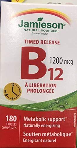 Jamieson Vitamin B12 1200mcg Timed Release, 180 Tablets