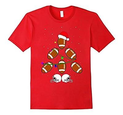 Funny Football Christmas Tree Gift Shirt