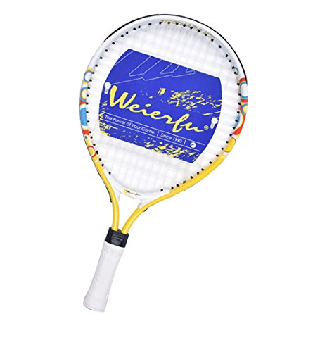 weierfu Junior Tennis Racket for Kids Toddlers Starter Racket 17″ with Cover Bag Light Weight(Strung)