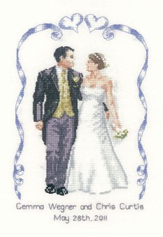 Heritage Crafts 27 count evenweave Peter Underhill Collection Wedding Celebration Sampler Counted Cross Stitch Kit by Heritage Crafts by Heritage Crafts