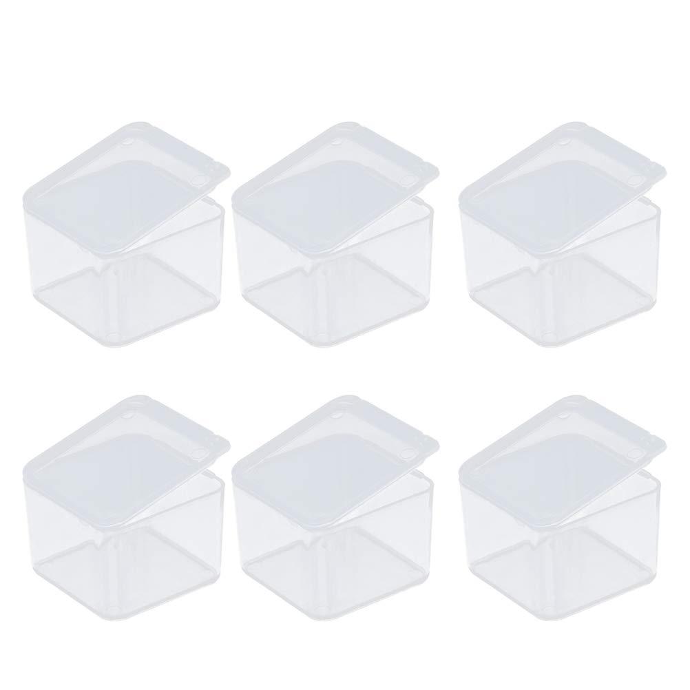 SUPVOX 50 Stü cke Durchsichtigen Kunststoffbehä lter Komponente Aufbewahrungsbox Kleines Rechteck Mini Boxen