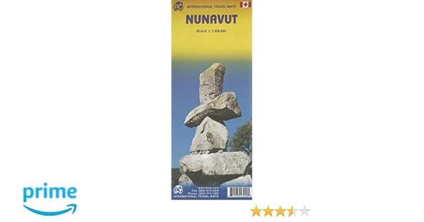 Map Of Canada North Of 60.Nunavut Travel Map Itmb Itmb Publishing 9781553418450 Amazon Com