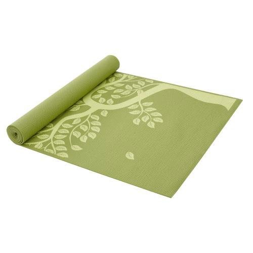Gaiam Yoga Mat Classic Print Non Slip Exercise & Fitness Mat for All Types of Yoga, Pilates & Floor Exercises, Tree of Life, 68-Inch x 24-Inch x 4mm ()
