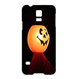 Ludicrous Lantern Style Halloween Pumpkin Unique Plastic Phone Case For Samsung Galaxy S5 Mini