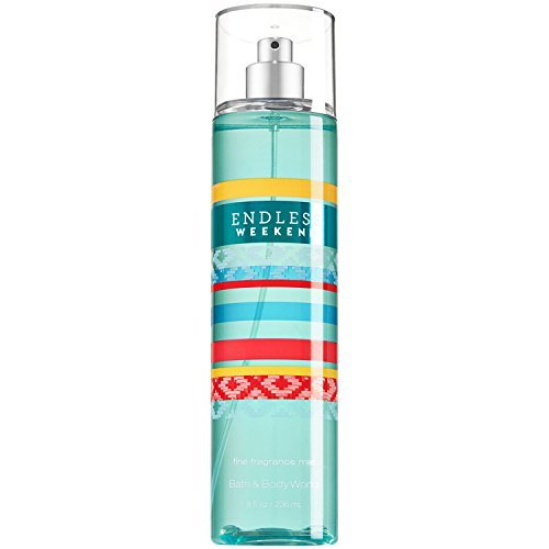 Bath & Body Works Fine Fragrance Mist for Women, Endless Weekend, 8 Ounce (Green Jasmine Apple Perfume)