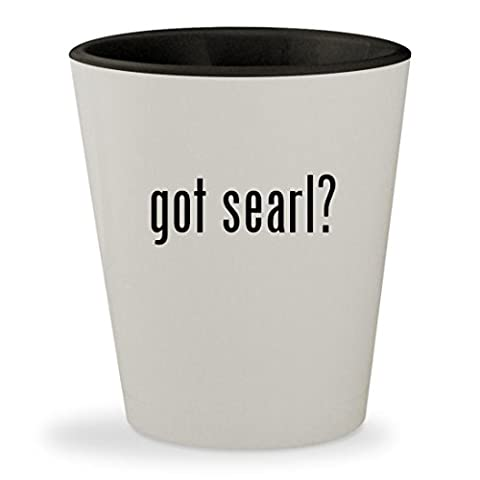 got searl? - White Outer & Black Inner Ceramic 1.5oz Shot Glass (Coming Of Age Searl)