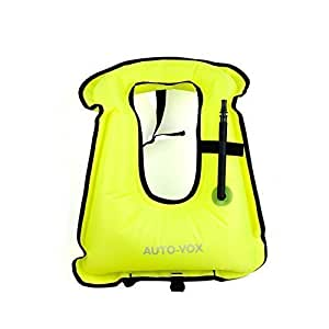 Auto-Vox Adult Portable Inflatable Snorkeling Diving Vest for Water safety