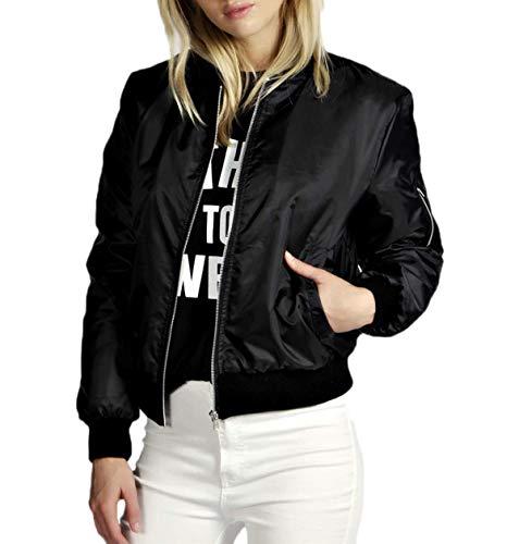 Manica e Coat Blouse Bomber Tops Giacca Moda Jacket Cappotto Lunga Autunno Casual Primavera Outerwear Donna Giacche Corto tpwqY