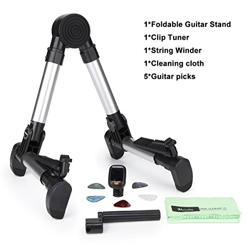 Acoustic Classical Stand (Guitar Stand Universal Folding A Frame for Acoustic/Electric/Classical Guitars and Violin,Ukulele,Bass,Banjo,Mandolin-Utimate Portable Adustable Folding Lihgtweight)