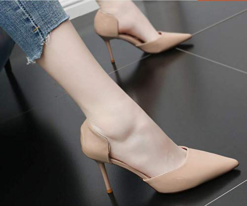 Hollow Sandals Fashion Thin Sharp Pointed Shoes Comfortable Heel Mouth Shallow With Wrapped Temperament And Root shoes Simple Summer women's GTVERNH High Women'S Black 9Cm SdwqBOOz