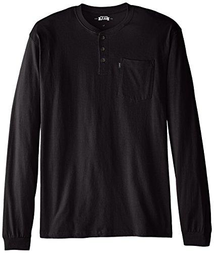 Key Apparel Mens Big & Tall 3-Button Long-Sleeve Henley Pocket T- Shirt