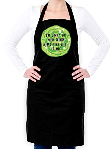Dressdown Your Opinion Means Very Little to Me - Unisex Adult Apron - Black - One Size